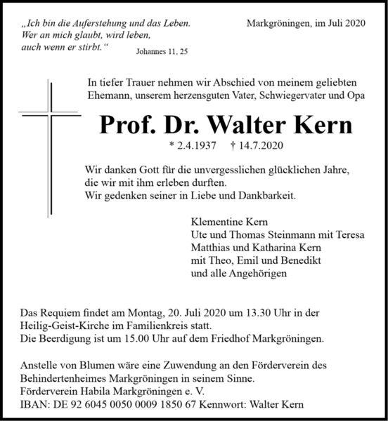 Walter M. D. Kern